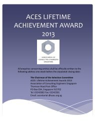 the awards - Association of Consulting Engineers Singapore