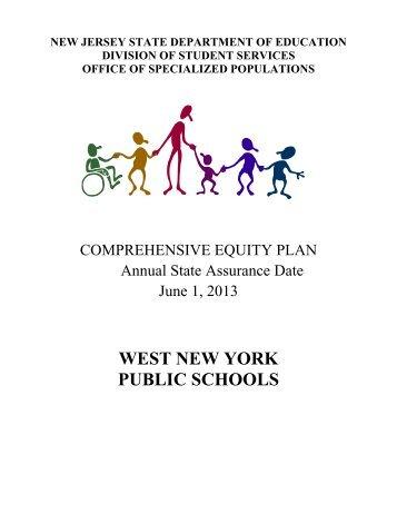 Comprehensive Equity Plan - West New York School