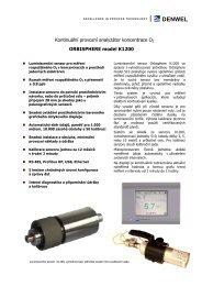 Luminiscenční senzor - DENWEL, spol. s ro