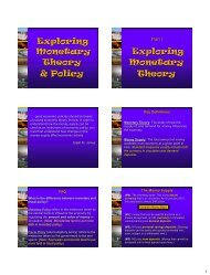 Monetary Theory and Policy - New Learner