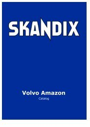 SKANDIX Catalog: Volvo Amazon - SaabtuninG