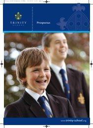 school prospectus - Trinity School