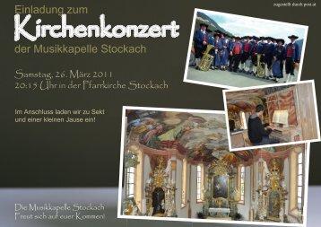 Einladung zum der Musikkapelle Stockach