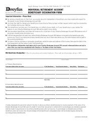 Inherited IRA Beneficiary Distribution Request Form - Dreyfus