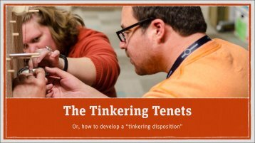 The Tinkering Tenets