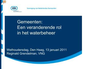 Doelmatig waterbeheer - Vereniging van Nederlandse Gemeenten