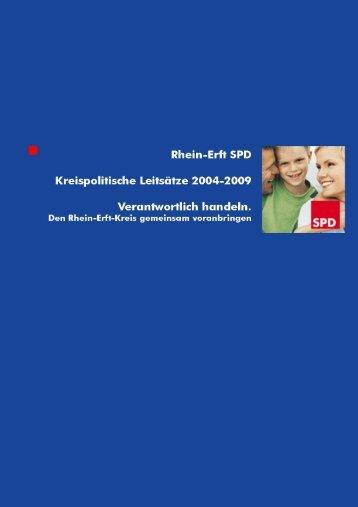 Kreiswahlprogramm Rhein-Erft SPD 2004-2009 - Die SPD in ...