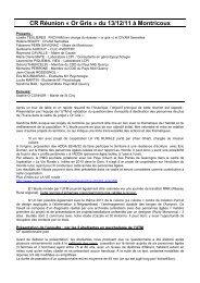 CR réunion 13 décembre 2011 Montricoux - Pays Midi-Quercy