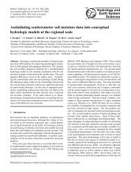 Assimilating scatterometer soil moisture data into conceptual ... - HAL