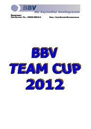 Ausschreibung Team Cup 20121 - Bayreuther Bowlingverein