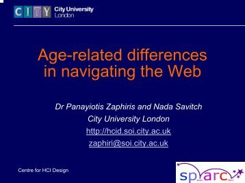 Age-related differences in navigating the Web
