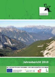 Natur schützen - Alpenpark Karwendel