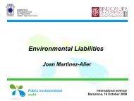 Joan Martinez-Alier Past-President, Internacional ... - Eurorai.org