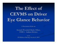 The Effect of CEVMS on Driver Eye Glance Behavior ... - ITS Midwest