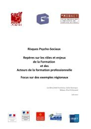 Risques Psycho-Sociaux Repères sur les rôles et enjeux de la ...
