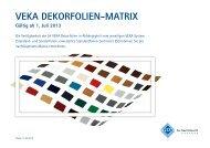 VEKA DEKorFoliEn-MAtrix