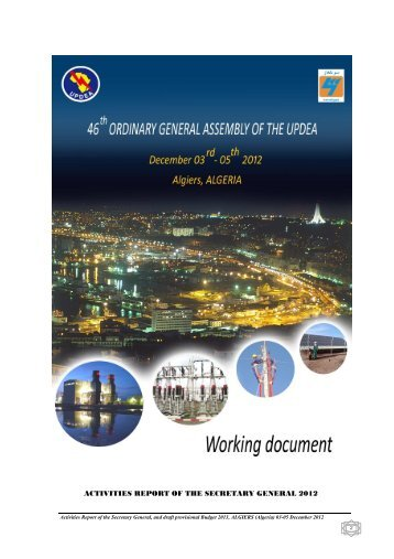 SG Activities Report..