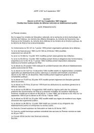 Décret no 97-817 du 5 septembre 1997 érigeant l'Institut ... - IHEDN