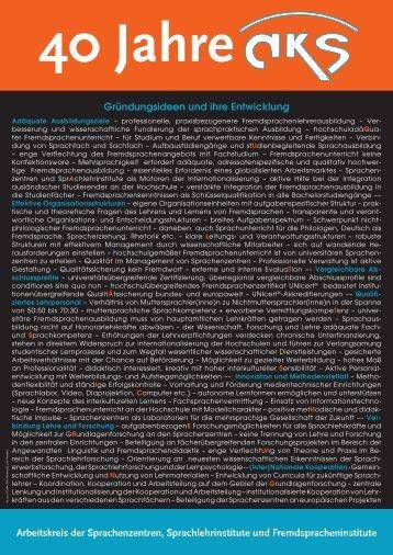 40 Jahre AKS - Plakate 1-4.pdf - Arbeitskreis der Sprachenzentren