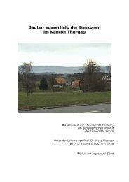 Bauten ausserhalb der Bauzonen im Kanton Thurgau - vlp-aspan
