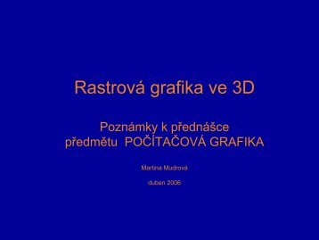 Rastrová grafika ve 3D - Index of