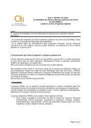Avis ENS Chimie Lille - Commission des Titres d'Ingénieur