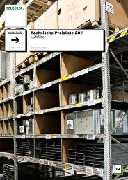 09 Technische Preisliste 2011 - Felderer