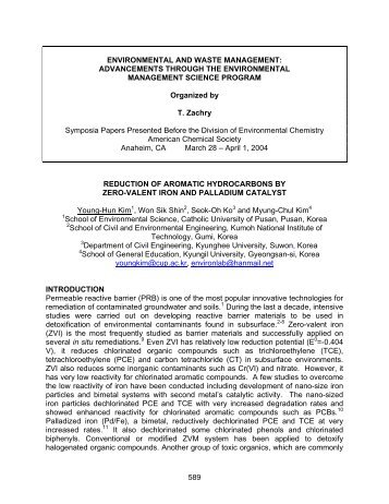Reduction of Aromatic Hydrocarbons by Zero-Valent Iron and ...