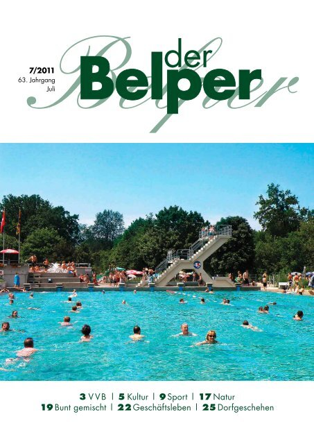 3 VVB | 5 Kultur | 9 Sport | 17 Natur 19 Bunt gemischt | 22 - Der Belper