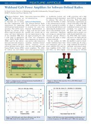 Wideband GaN Power Amplifiers for Software ... - RF Micro Devices