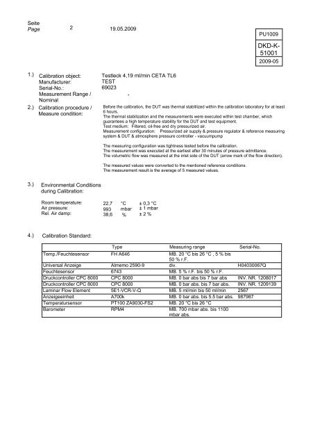 DEUTSCHER KALIBRIERDIENST - Bosch-Kalibrierdienst