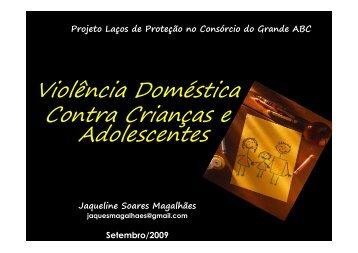 Violência Doméstica Contra Crianças e Adolescentes - cosems/sp