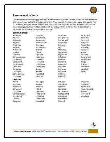 resume action verbs valuebook co