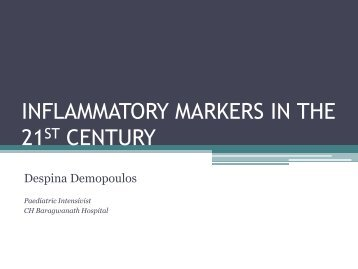 INFLAMMATORY MARKERS IN THE 21ST CENTURY