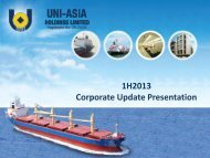 1H2013 Corporate Update Presentation - Uni-Asia Holdings Limited