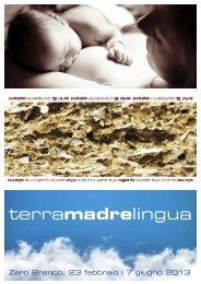 Flyer Terra Madre Lingua - Eventi e sagre