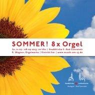 Programm Orgelsommer 2013 (pdf) - Musik am 13.