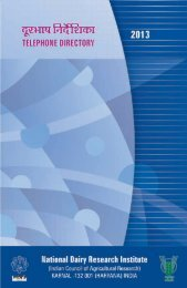 Telephone Directory 2013 - National Dairy Research Institute
