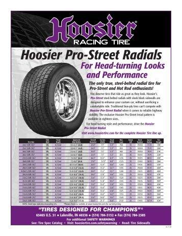 Hoosier Pro-Street Radials - Hoosier Racing Tire