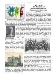 Ein Rückblick auf 120 Jahre Evangelischer Posaunenchor Eschwege