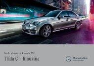 Třída C – limuzína - Mercedes-Benz PRAHA