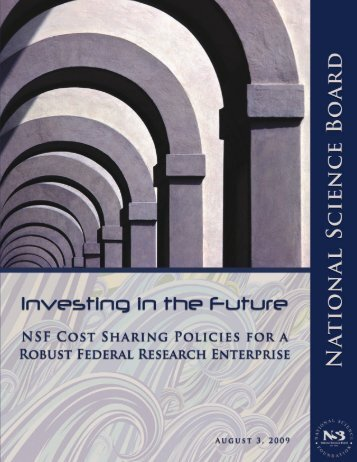 NSF Cost Sharing Policies for a Robust Federal Research Enterprise