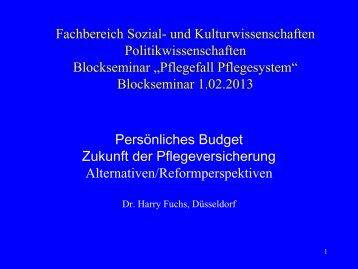 Blockseminar 01.02.2013 - Harry Fuchs, Düsseldorf