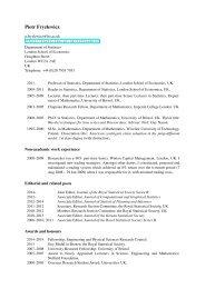 Piotr Fryzlewicz - LSE Statistics