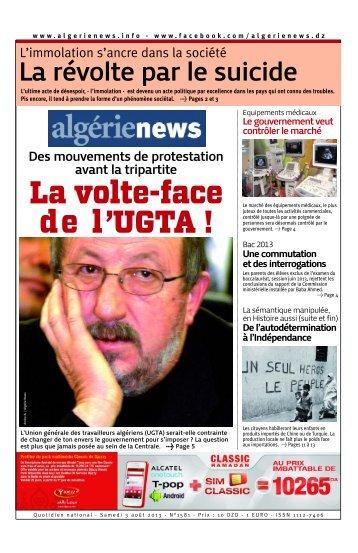 Fr-03-08-2013 - Algérie news quotidien national d'information