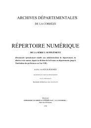 Série L supplément - Archives départementales Corrèze