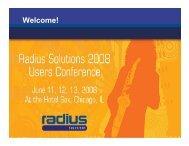 David Taylor User Conference Presentation - Radius