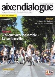 « Mieux vivre ensemble » Le centre-ville - Aix-en-Provence