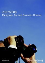 2007/2008 malaysian tax and business booklet
