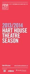 2013/2014 Hart House Theatre season brochure
